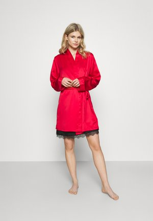 KIMONO OPEN BACK PANEL - Dressing gown - red
