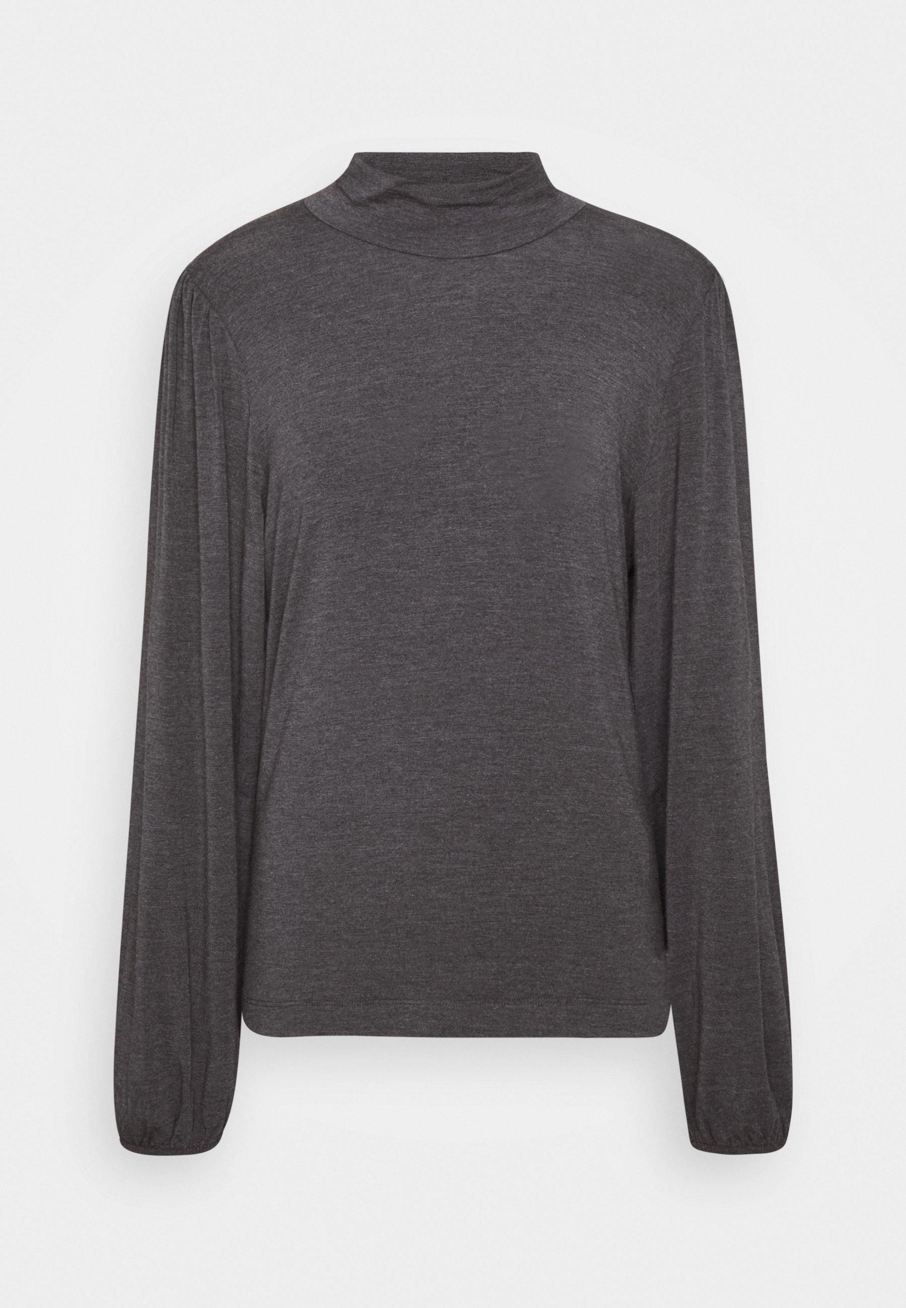 mbyM TANNA - Camiseta de manga larga - dark grey melange VkJHT