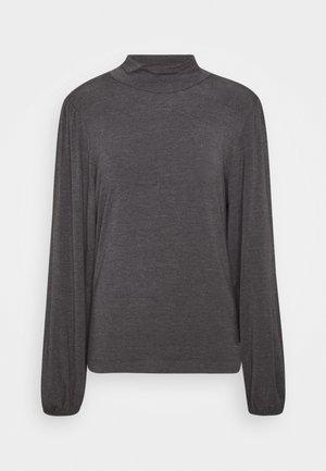 TANNA - Long sleeved top - dark grey melange