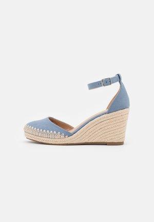 Platform heels - light blue