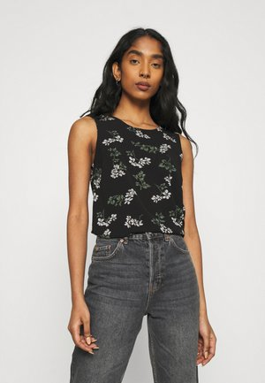 VMSAGA O NECK  - Top - black/nellie