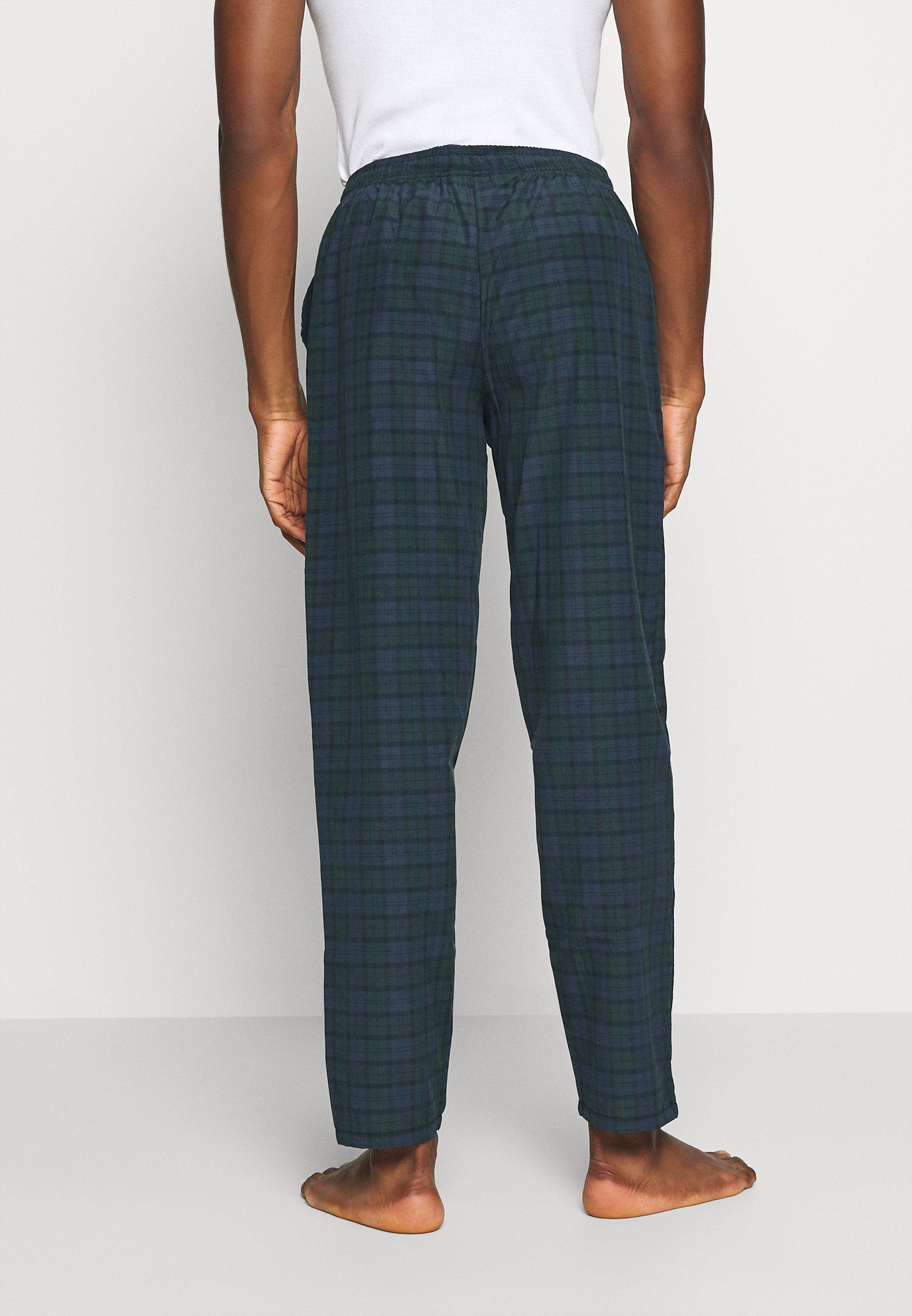Pier One Pyjamasbukse - Dark Blue/green/mørkeblå