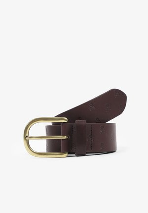 SKULL  - Belt - dark brown