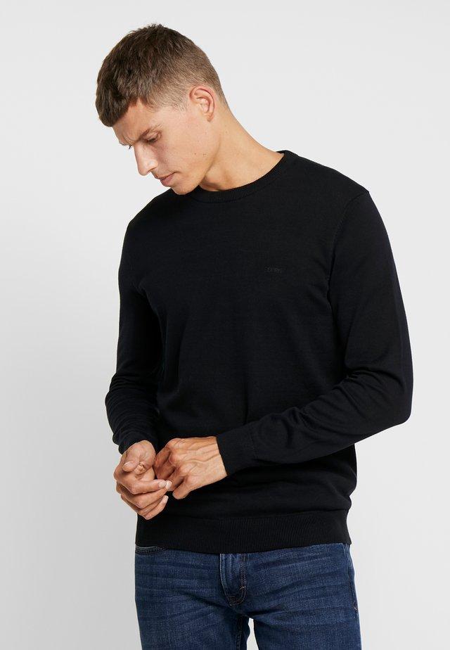 CREW - Strikkegenser - black