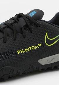 Nike Performance - JR PHANTOM GT ACADEMY TF UNISEX - Astro turf trainers - black/cyber/light photo blue - 5