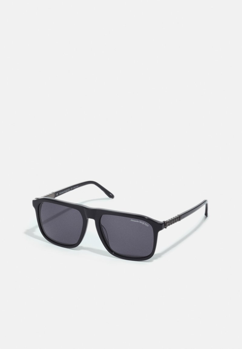 Alexander McQueen - UNISEX - Sunglasses - black/silver-coloured/grey