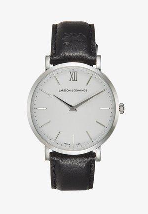 Watch - black/silver-coloured/white