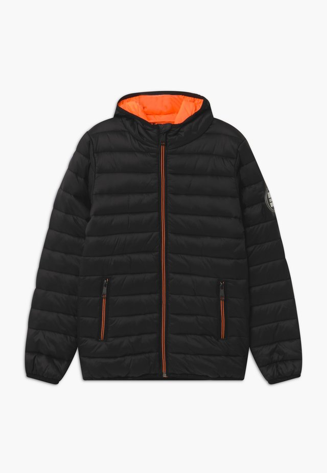 KID MINI - Veste d'hiver - black/neon orange