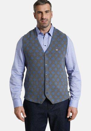 DUKE FRANKLIN - Waistcoat - grau blau