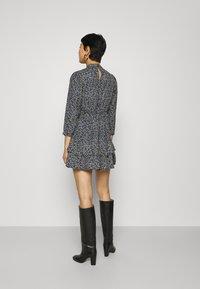 Dorothy Perkins - SHEERED NECK MINI DRESS DITSY PRINT - Day dress - black - 2