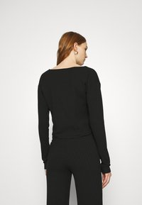 Nly by Nelly - BUTTON CARDIGAN SET - Cardigan - black - 3