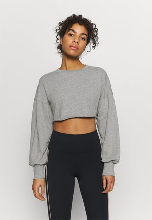 SUPER CROPPED RAW HEM - Sweatshirt - grey marl