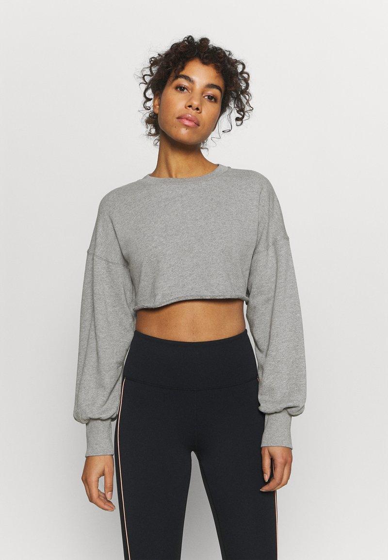 NU-IN - SUPER CROPPED RAW HEM - Sweatshirt - grey marl