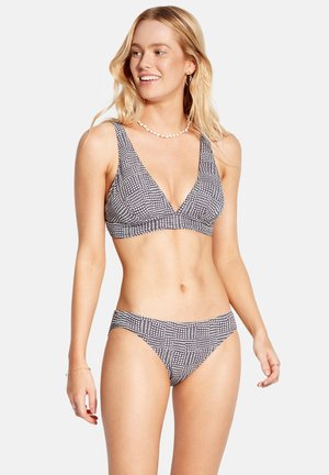 SPOTTED V NECK - Bikini - granite