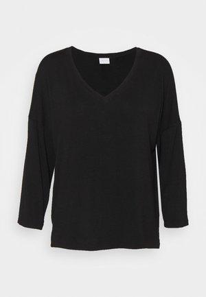 VIAMELLIA V NECK - Pitkähihainen paita - black