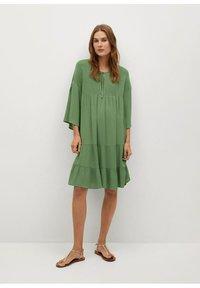 Mango - BAMBU-H - Sukienka letnia - green - 1