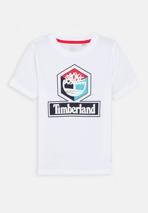 SHORT SLEEVES TEE - T-shirt z nadrukiem - white