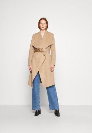 WRAP DOUBLE FACE CONTRAST - Classic coat - hazel melange
