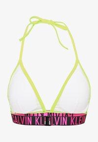 Calvin Klein Swimwear - INTENSE POWER FIXED TRIANGLE - Top de bikini - safety yellow - 1