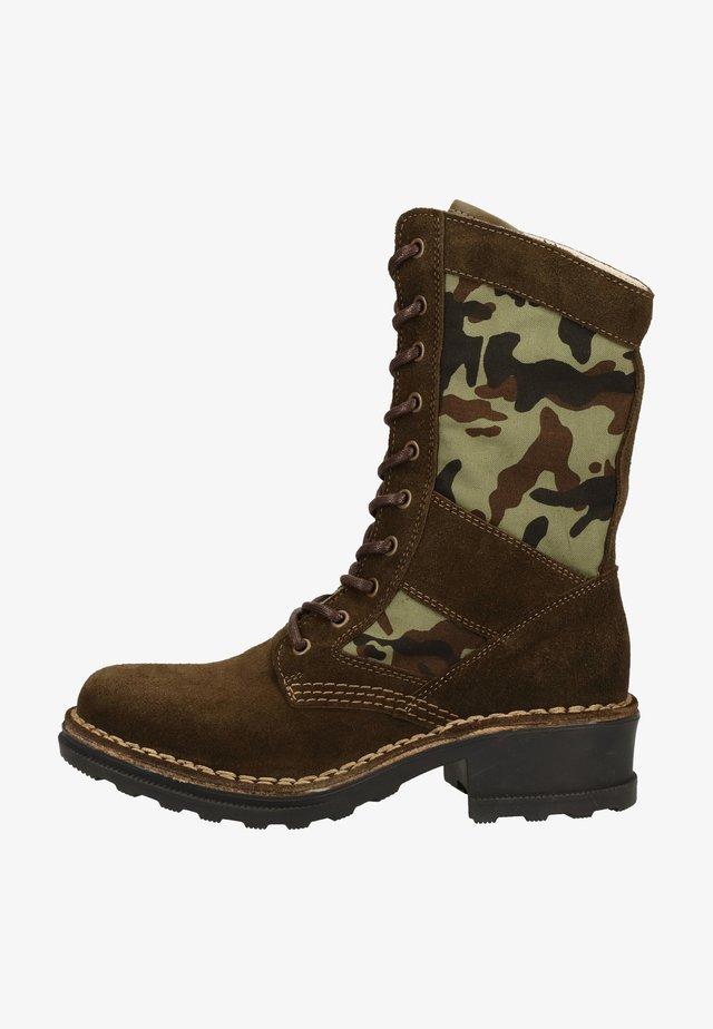 Lace-up ankle boots - sludge