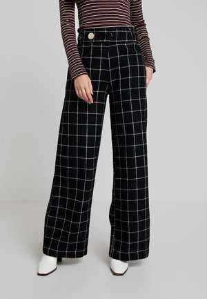 KARL TROUSER - Trousers - black/white