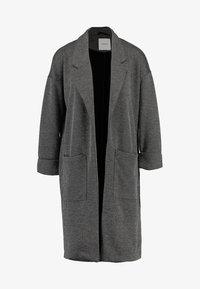 PCDORITA COATIGAN - Short coat - dark grey melange