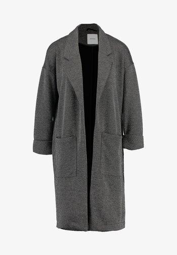 PCDORITA COATIGAN - Abrigo corto - dark grey melange
