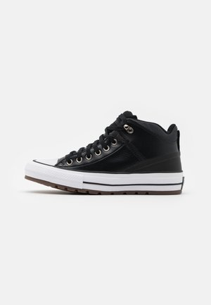 CHUCK TAYLOR ALL STAR STREET UTILITY UNISEX - Korkeavartiset tennarit - black/almost black/white