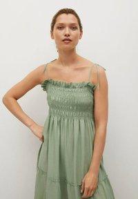 Mango - Maxi dress - pastelgroen - 2