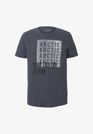 T-Shirt print - blueish grey