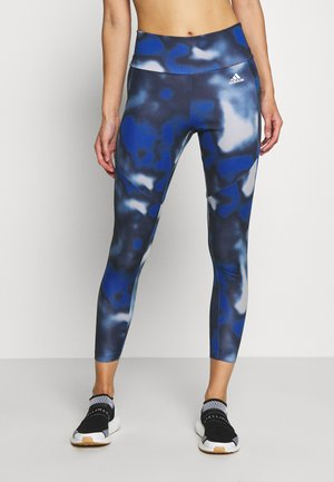 AEROREADY TRAINING SPORTS - Legginsy - royblue/white