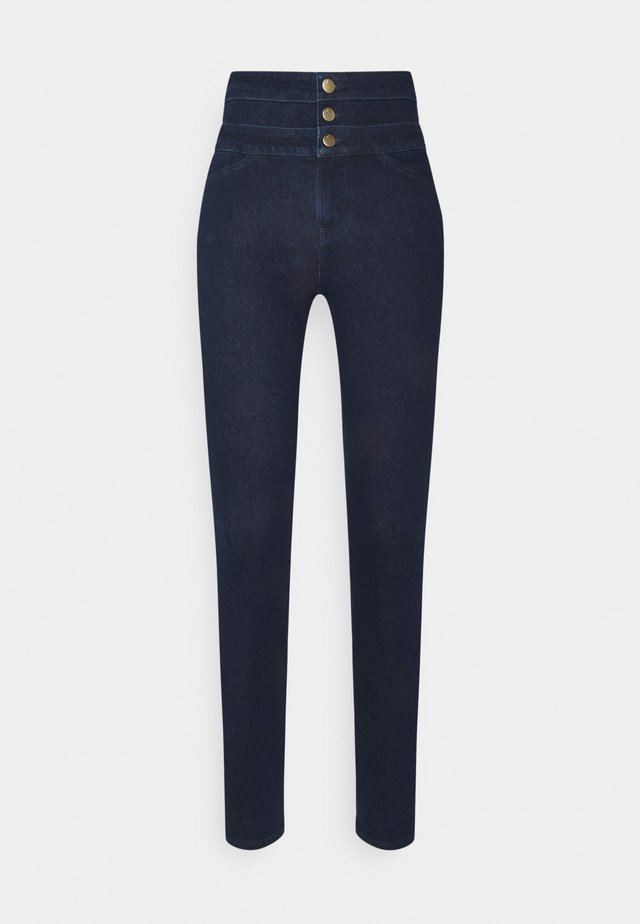 ANNALIE HIGH RISE - Jeans Skinny - dark blue