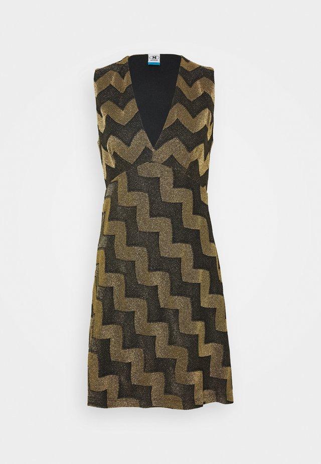 ABITO SENZA MANICHE - Cocktail dress / Party dress - black/gold