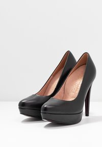 Tamaris Heart & Sole - COURT SHOE - Høye hæler - black - 4