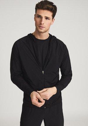 TOBY - Zip-up sweatshirt - black