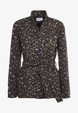 POET - Classic coat - camel leo