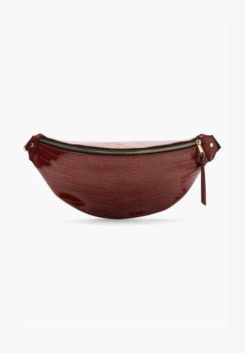IN REPTILLEDER-OPTIK - Bum bag - dark red
