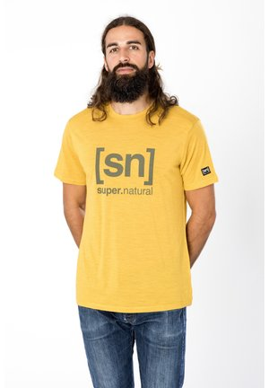 MERINO T-SHIRT M LOGO TEE - Print T-shirt - ocker
