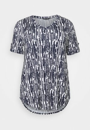 TURN BACK TOP - Blouse - navy