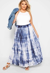 Yours Clothing - Pleated skirt - blue - 1