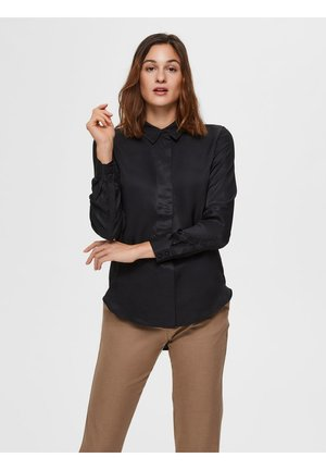 ODETTE - Button-down blouse - black