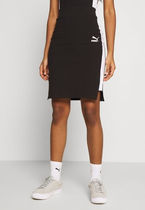 CLASSICS TIGHT SKIRT - Spódnica mini - black