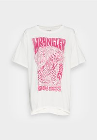 Wrangler - OVERSIZED TEE - Print T-shirt - wornwhite - 3