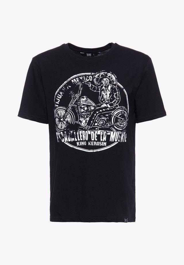 MIT PRINT IN DER FRONT MEXICAN RIDER - T-shirt print - schwarz