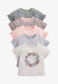 Next - 5 PACK - T-shirt print - pink - 0