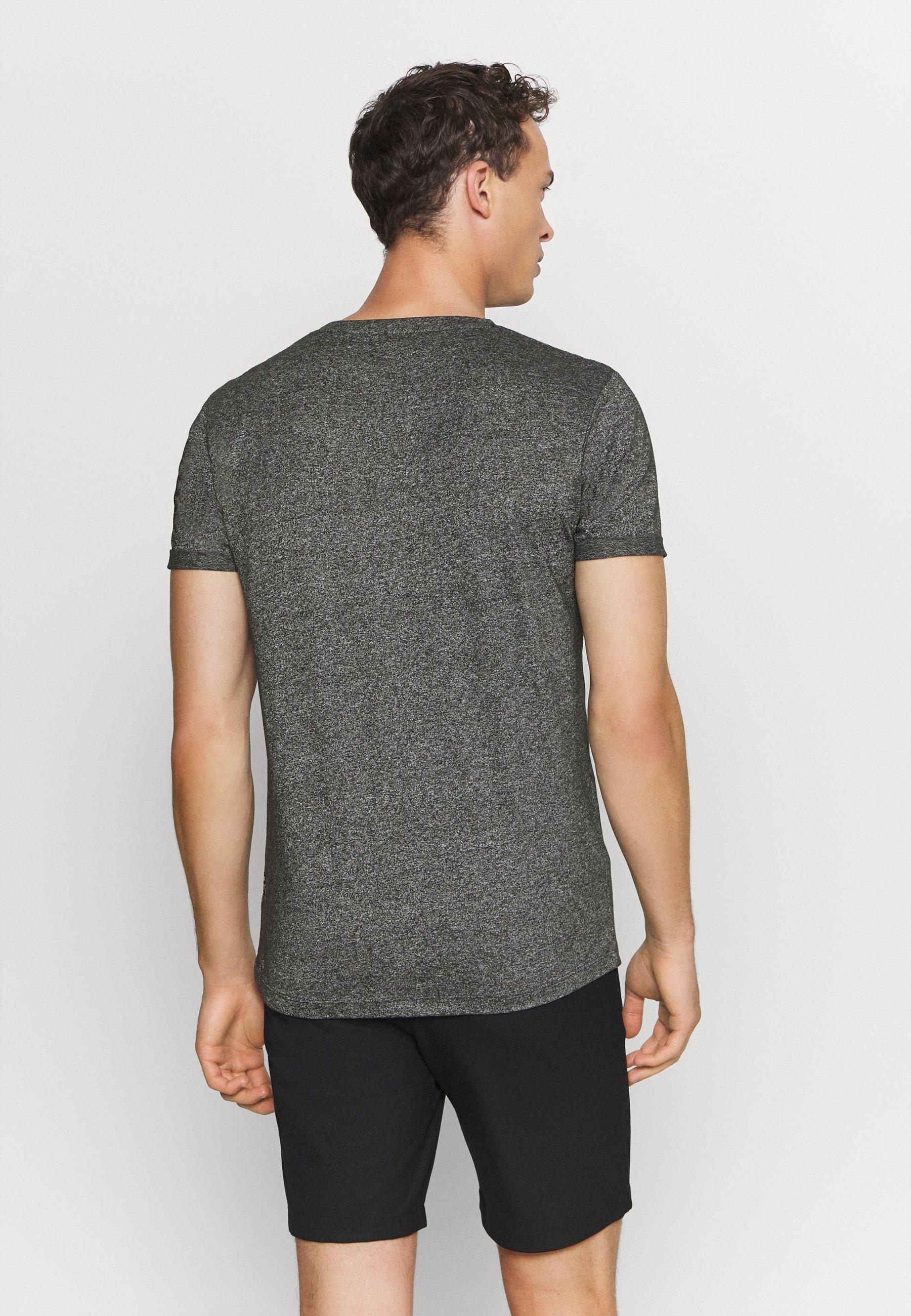 TOM TAILOR DENIM Basic T-shirt - black 65ch9