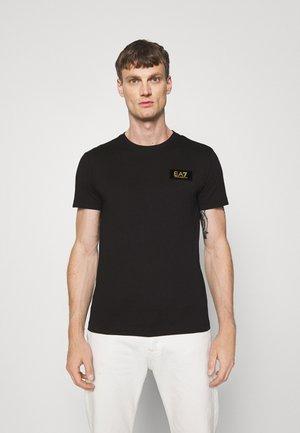 Basic T-shirt - black/gold-coloured