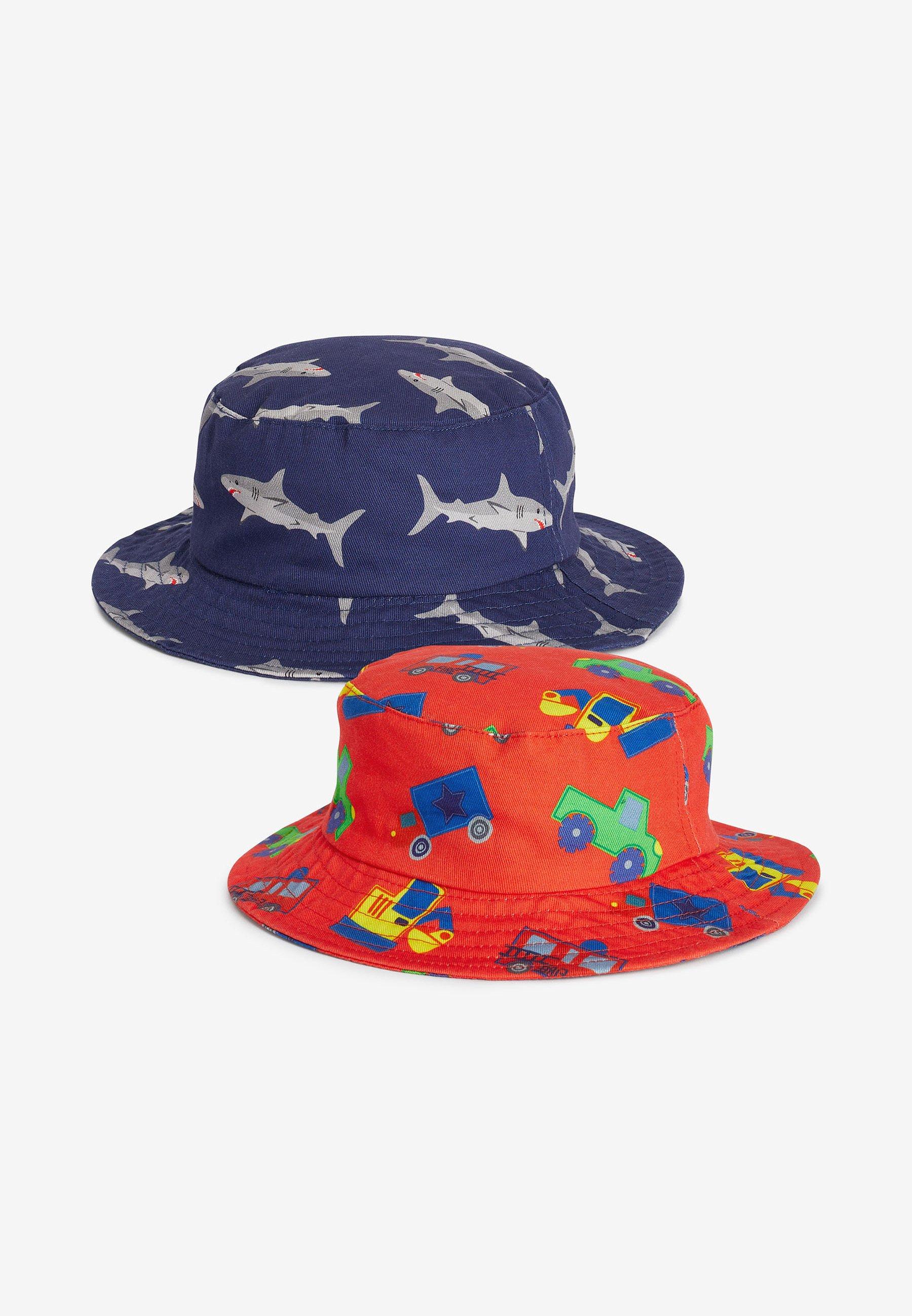 Kinder 2 PACK SHARK/TRANSPORT FISHERMAN'S HATS - Hut