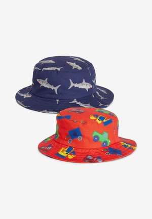 2 PACK SHARK/TRANSPORT FISHERMAN'S HATS - Hat - blue