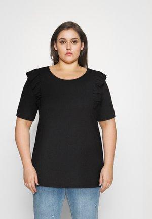 CARJANET 2/4 FRILL - Print T-shirt - black